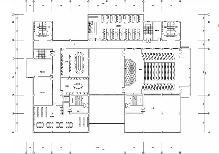 某高校四层图书馆设计方案文本(含24张jpg)