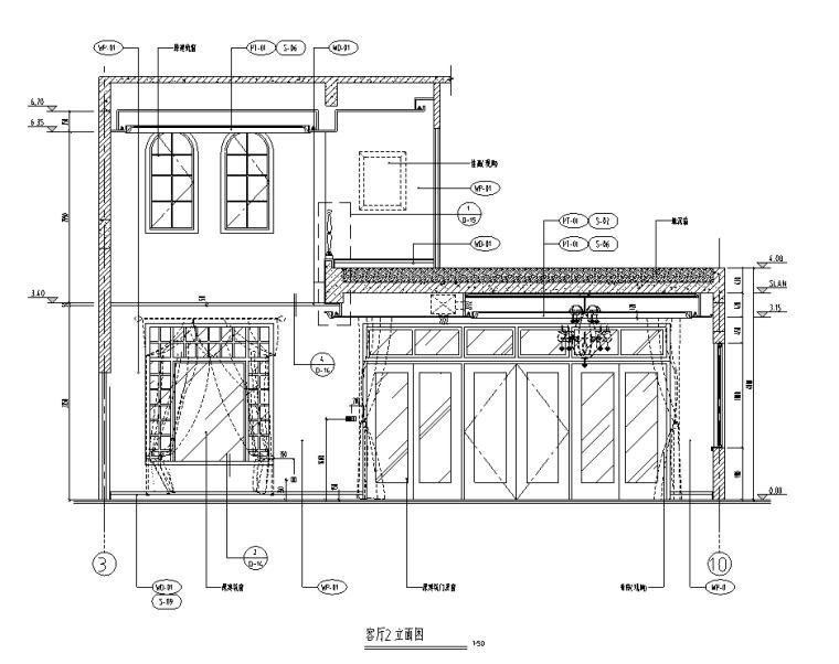 [广东]某意式风格三层别墅室内设计施工图
