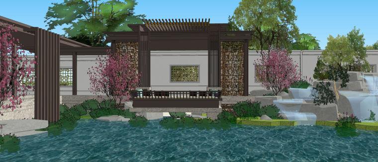[重庆]九里晴川展示区景观设计SU模型.skp