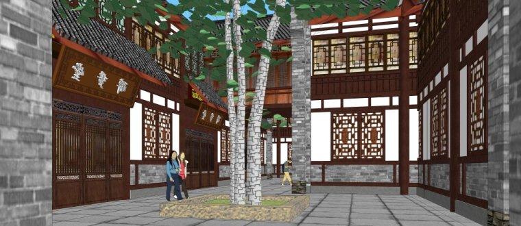 商业街东方新古典2层建筑方案设计