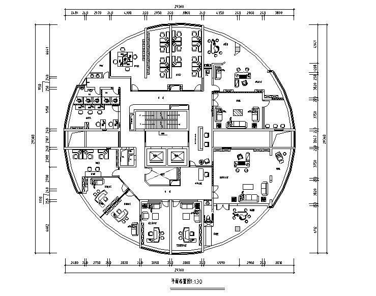 [江西]国际金融办公空间设计施工图(附效果图)