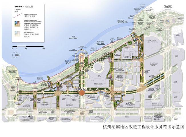 杭州湖滨旅游商贸特色街区/SWA滨水商业区景观规划设计