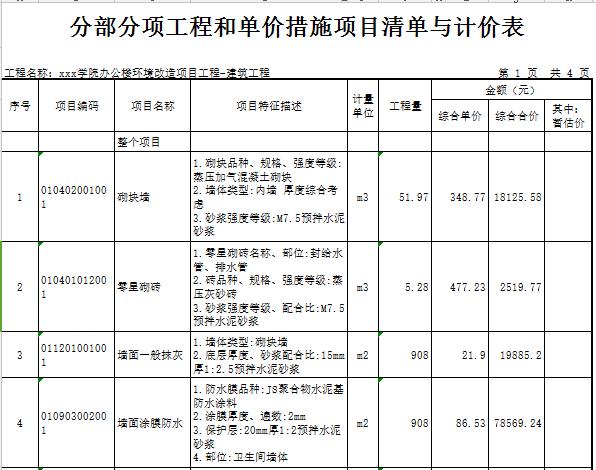 [广东]2018学校办公楼卫生间建筑安装工程预算书(图纸)_7