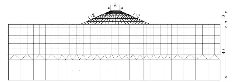 3土堤—堤基系统单元部分