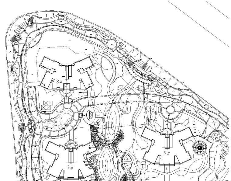 [上海]某半岛花园全套施工图(包含+35个CAD)