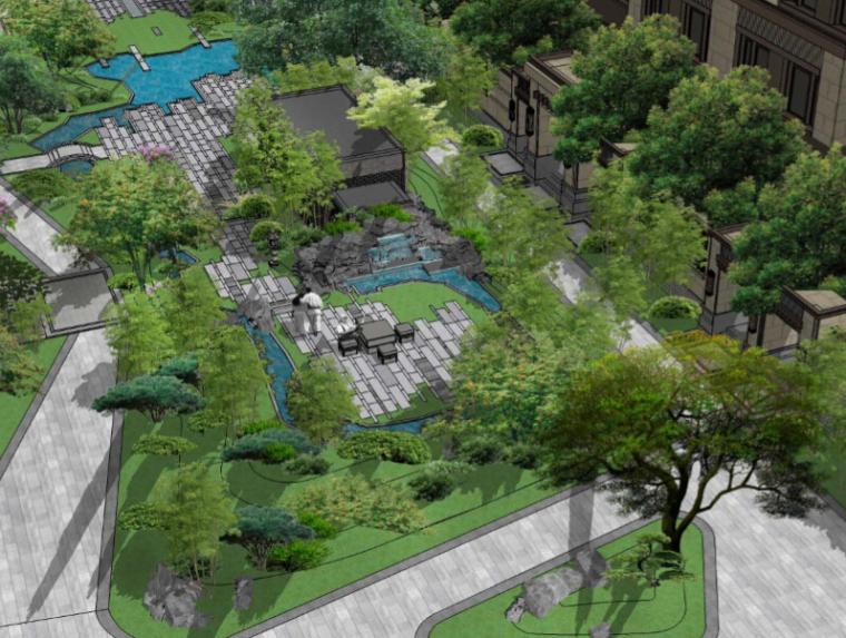 [北京]泰禾院子中央别墅区景观设计(新中式,禅意园林)