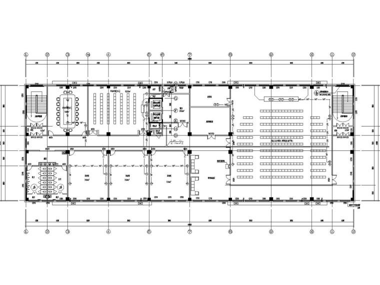 [重庆]渝东卫生学校建筑群电气施工图(公寓餐饮综合楼总图)