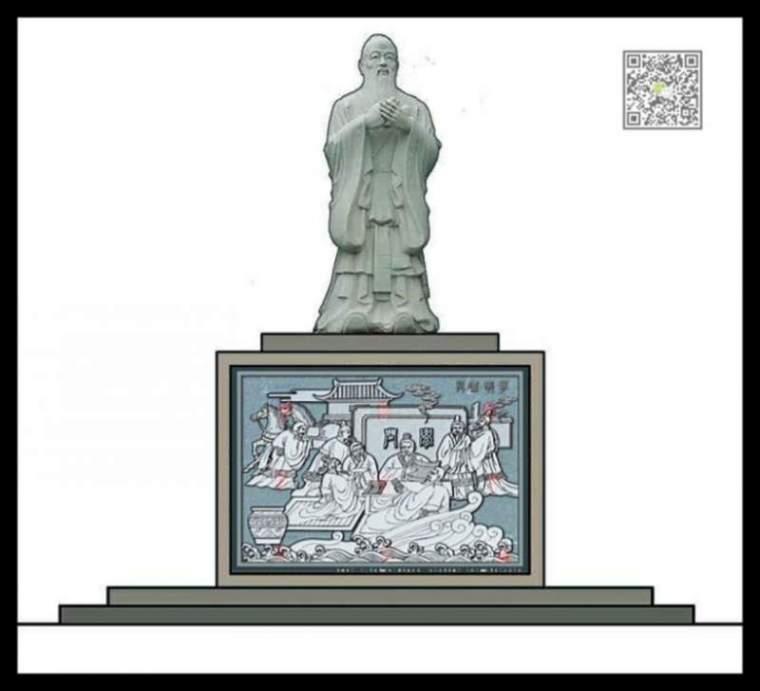 孔子杏坛讲学浮雕设计-孔子讲学浮雕设计(图)第1张图片