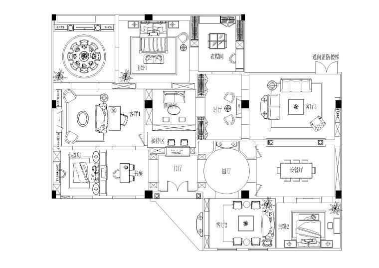 [上海]图森整体木作-上海展厅施工图+木饰面深化图纸+软装清单价格+高清官方摄影