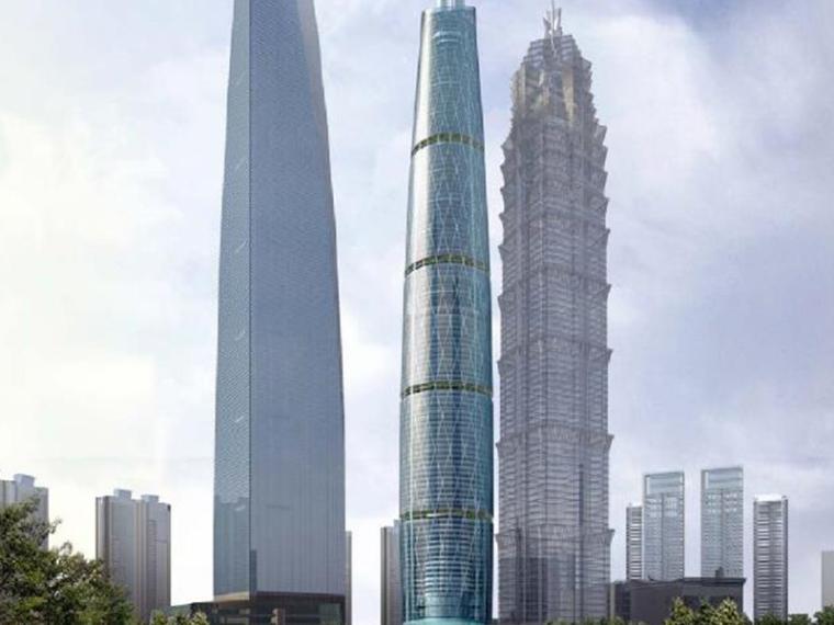 [上海]KPF中心大厦综合体建筑设计方案文本