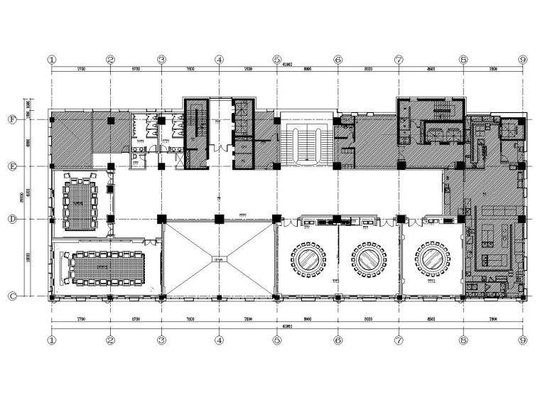 中国驻韩国大使馆装饰施工图+效果图+方案