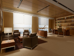 现代经理室3D模型下载
