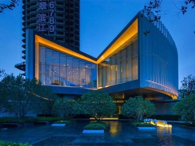 上海万科翡翠滨江售楼处景观
