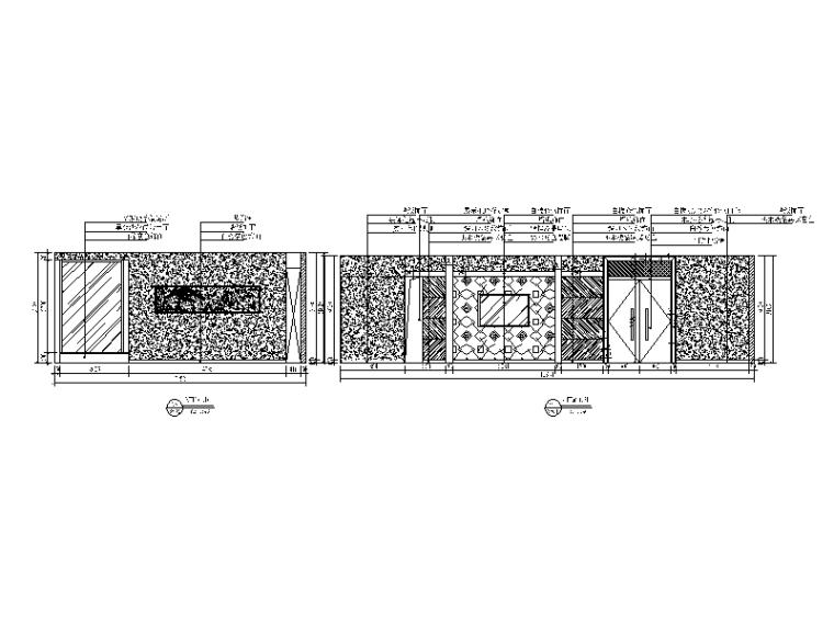 混搭风格茶餐厅设计CAD施工图(含效果图)_2