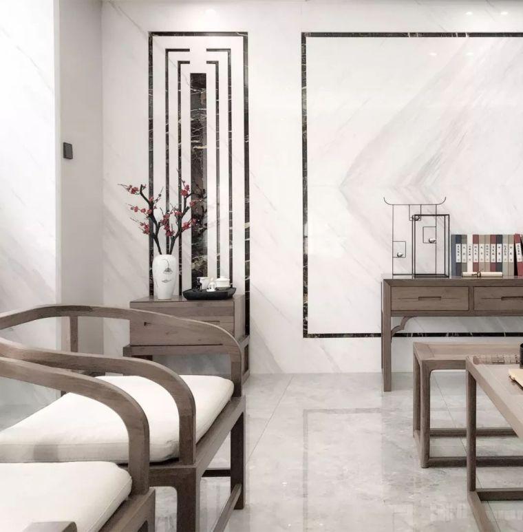 新中式徽派元素山水画为轴线的家装设计_16