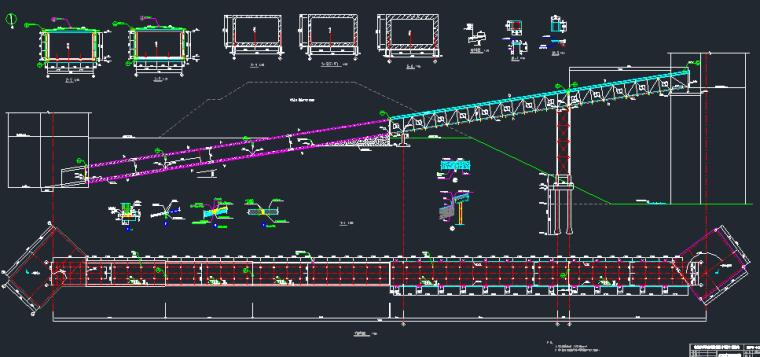输煤栈桥(钢桁架结构及地下暗道)结构施工图