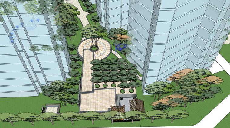 超精细!居住区建筑景观设计模型_6