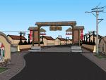 [山东]青岛黄岛区塔桥村旅游规划设计su模型