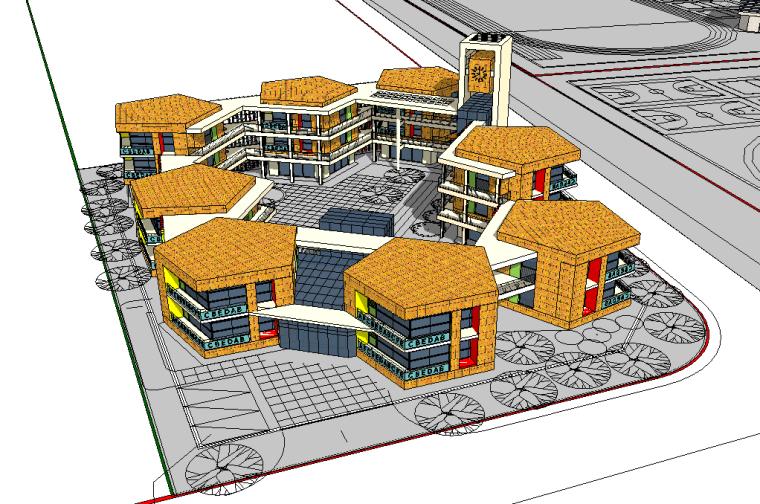 某幼儿园SU建筑模型
