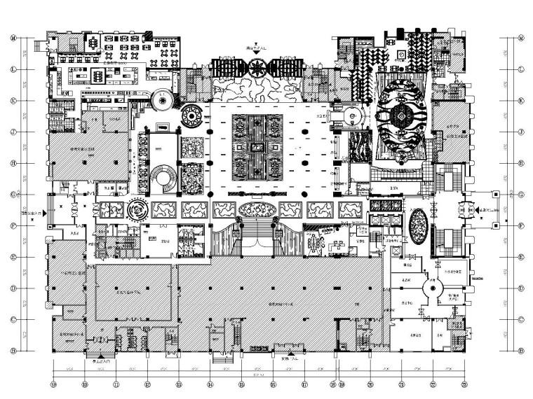 [山东]新中式风格五星级大酒店室内装修施工图(附效果图)