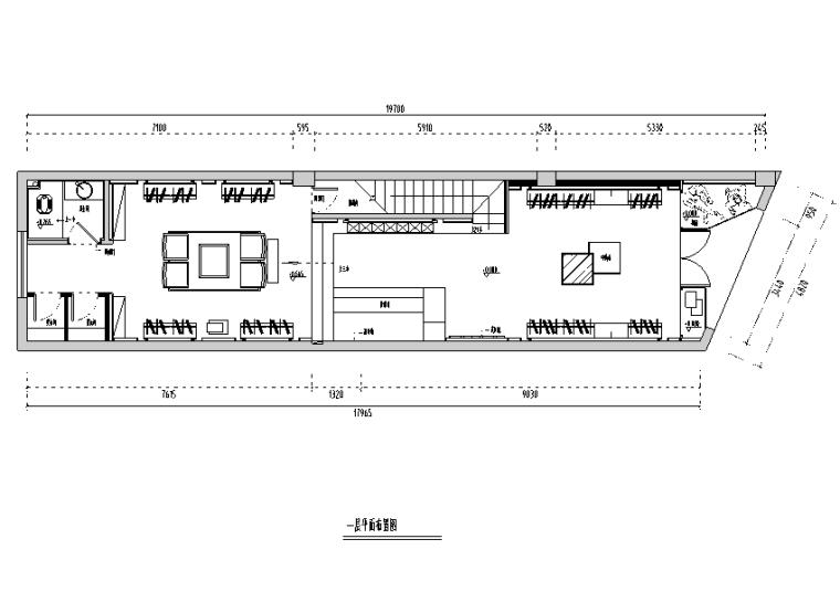 现代风格长乐服装店设计施工图(附效果图)