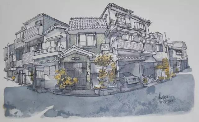 建筑手绘,国外设计师画的就是好看!_4