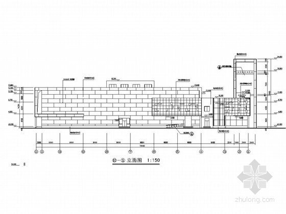 [湖南]三层异形柱框架结构会所结构图(含建筑图)