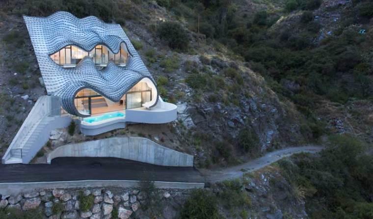 这个住宅在悬崖上,你敢住吗