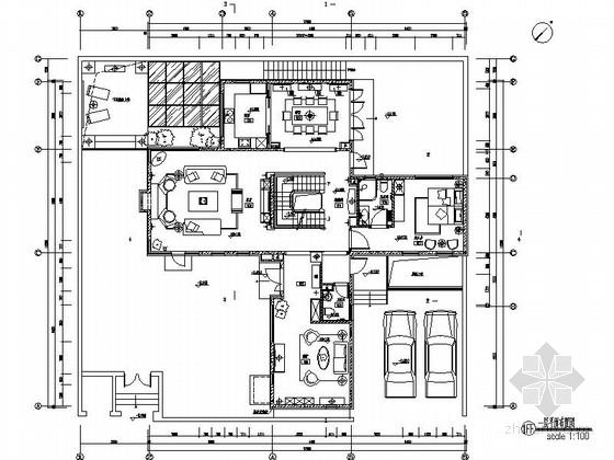 [北京]浓郁北美风情现代两层别墅样板间设计装修图(含实景)