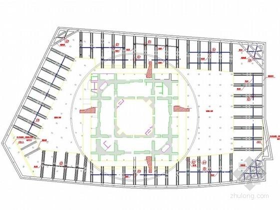 [上海]20米深基坑地下连续墙围护施工图(逆作法施工)