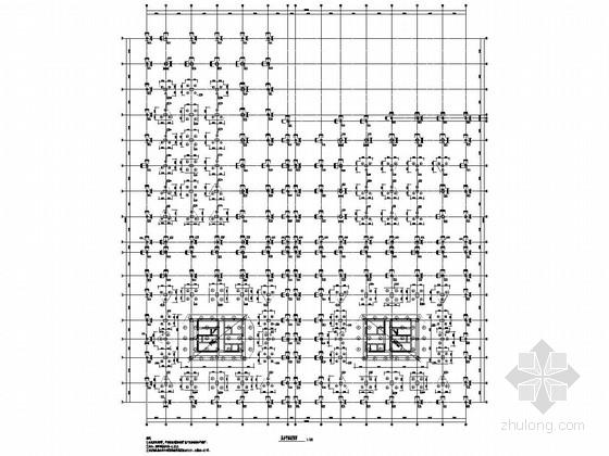 地下一层小汽车库结构施工图纸