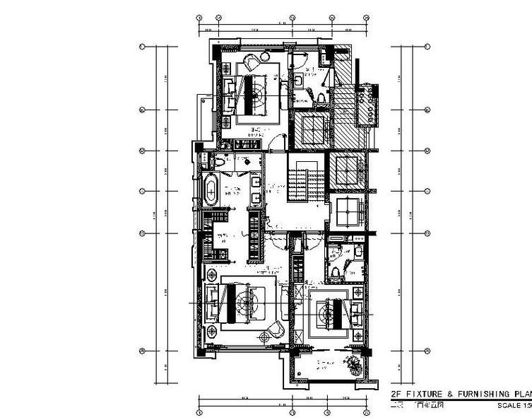 [上海]新古典别墅多层样板间设计施工图(含效果图+软装概念)