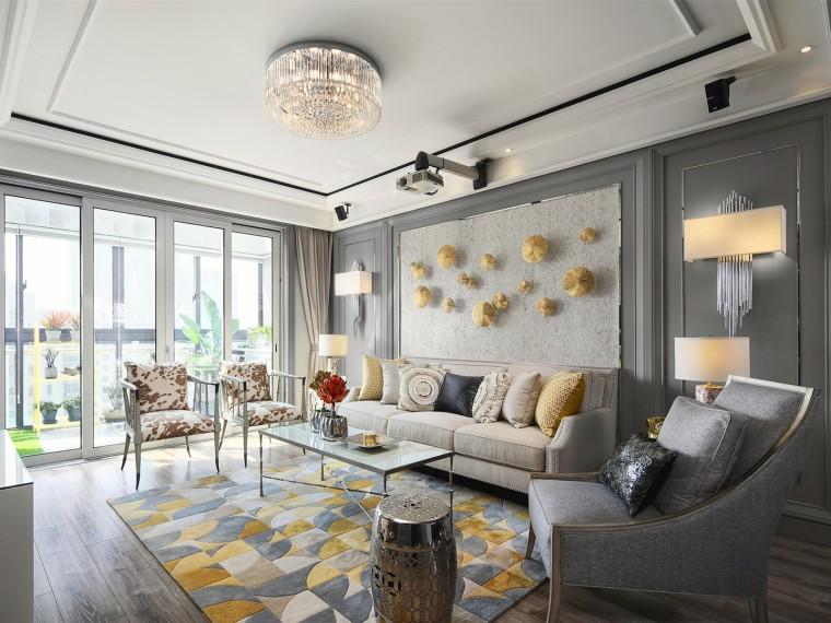 上海美式轻奢风格的居住空间