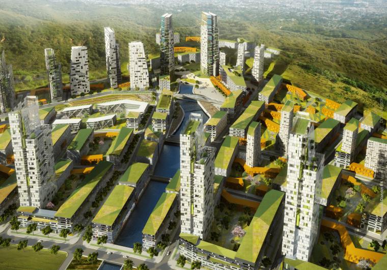 [湖南]长沙梅溪湖混用居住区开发建筑方案文本