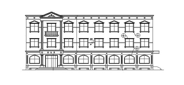欧式独栋三层餐饮建筑设计方案施工图CAD
