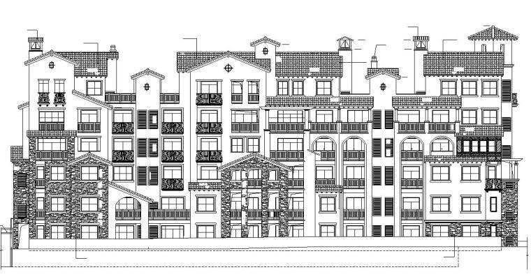 [重庆]多层剪力墙结构联排式别墅建筑施工图(含多栋楼建筑)
