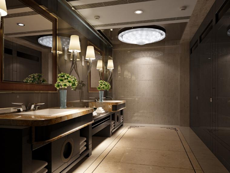 现代洗手间3D模型下载
