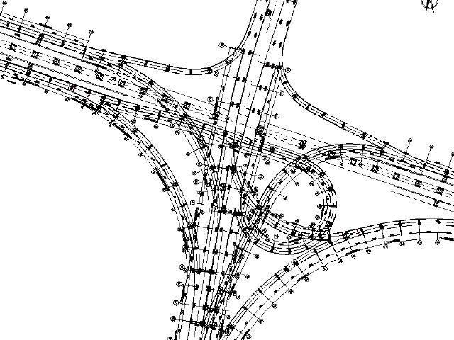 斜腹板形式箱梁单箱钢箱梁8条匝道高架互通立交工程设计图纸1893页(含变宽段)