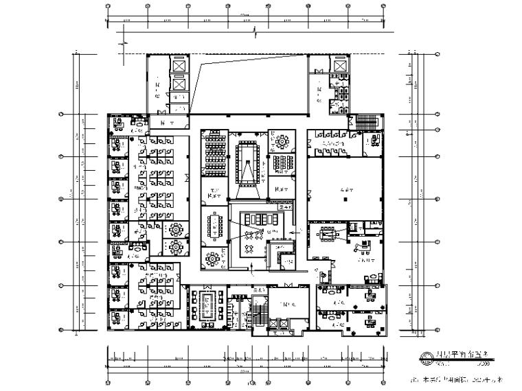 科技办公室内装修设计施工图(含效果图)