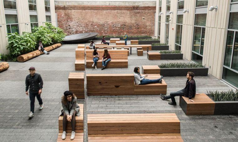 美国办公楼庭院景观
