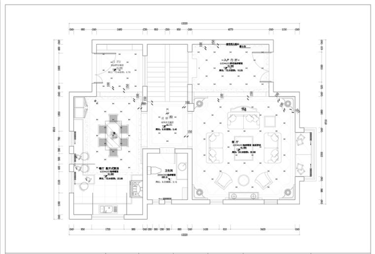 梦回凡尔赛家装设计完整施工图(附高清效果图、实景图)