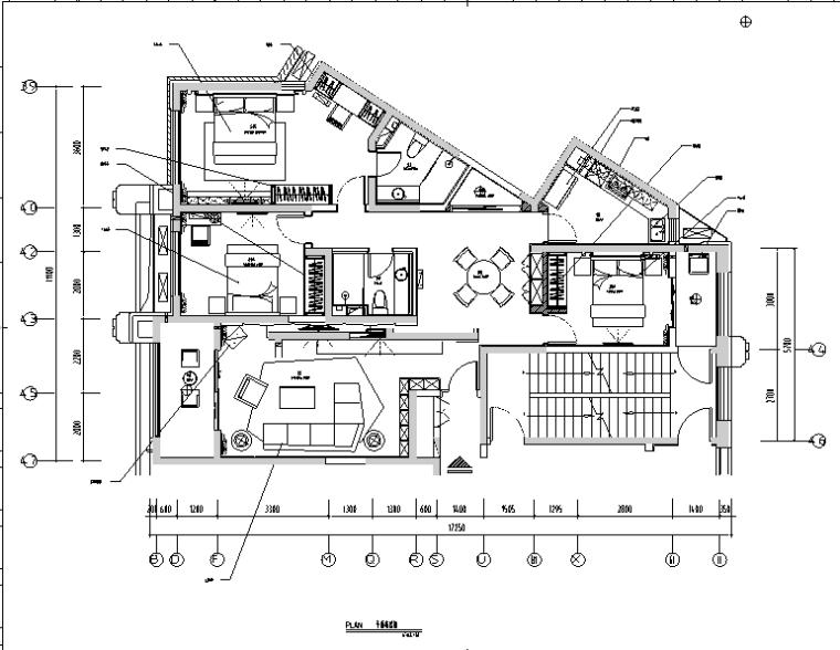 [河北]现代简约新源燕府样板间设计施工图(附效果图)