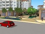 多层住宅节点SU模型