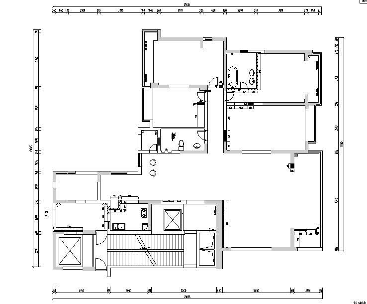 海归派轻奢家居样板房设计施工图(附效果图)_4