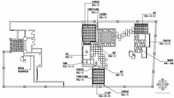 别墅庭院绿化设计施工图