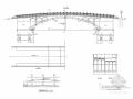 无铰双曲拱桥CAD施工图(含建施 结施)