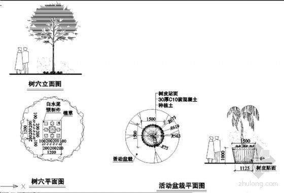 树池和移动盆栽详细做法