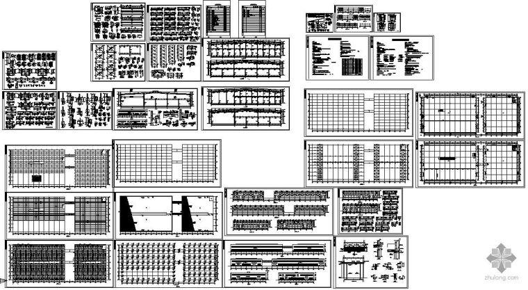 二层厂房建筑结构图资料下载-某新建厂房二层轻钢建筑结构图
