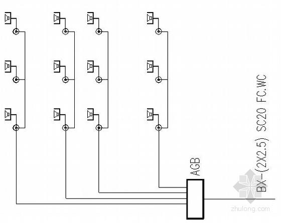 某中学四层图书馆电气图纸-
