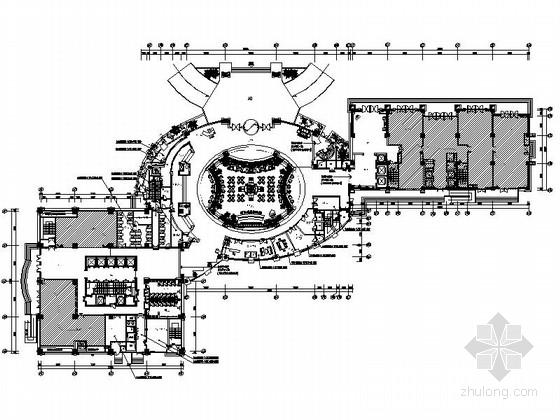 [江苏]某五星级酒店首层公共空间室内装修施工图(含效果)